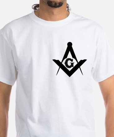 Outline Square and Compass White T-Shirt
