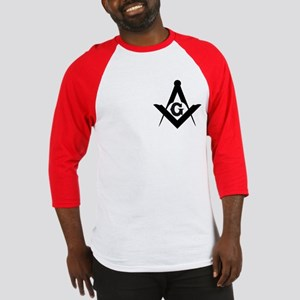Outline Square and Compass Baseball Jersey