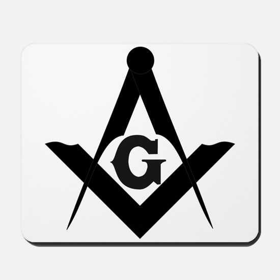 Outline Square and Compass Mousepad