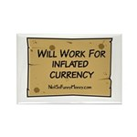 Will Work Inflation 2 Rectangle Magnet (10 pack)