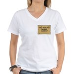 Will Work Inflation 2 Women's V-Neck T-Shirt