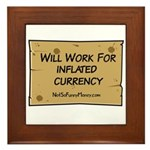 Will Work Inflation 2 Framed Tile
