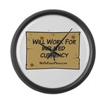 Will Work Inflation 2 Large Wall Clock