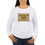 Will Work Inflation 2 Women's Long Sleeve T-Shirt