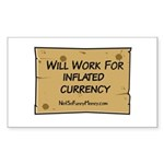 Will Work Inflation 2 Sticker (Rectangle 10 pk)