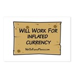 Will Work Inflation 2 Postcards (Package of 8)