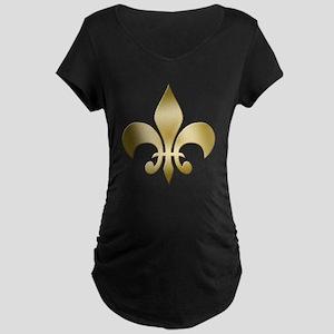 New Orleans Fleur Maternity Dark T-Shirt