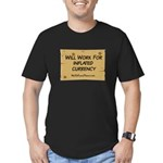 Will Work Inflation 2 Men's Fitted T-Shirt (dark)