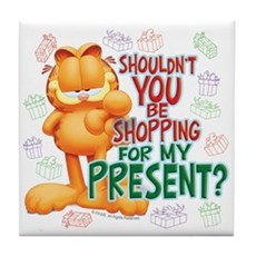 Shop For My Present? Tile Coaster