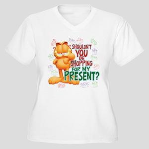 Shop For My Present? Women's Plus Size V-Neck T-Sh