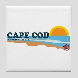 Cape May MA - Beach Design Tile Coaster