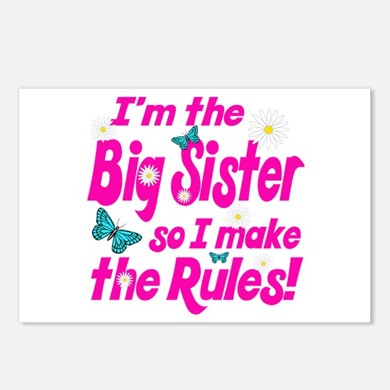 Big sister makes the rules Postcards (Package of 8