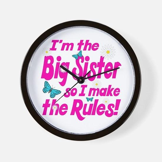 Big sister makes the rules Wall Clock