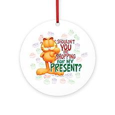 Shop For My Present? Ceramic Ornament (Round)
