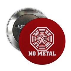 "NO METAL 2.25"" Button (10 pack)"