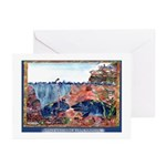 Whale Watching @ Cape Perpetua Greeting Cards (Pk