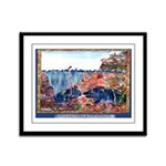 Whale Watching @ Cape Perpetua Framed Panel Print
