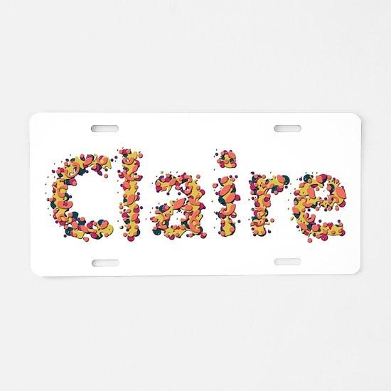 Claire Fiesta Aluminum License Plate