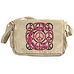 Pink Peace Symbols Messenger Bag