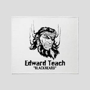 Edward Teach Throw Blanket