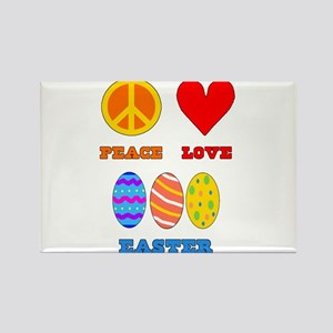 Peace Love Easter Rectangle Magnet