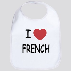 I heart french Bib