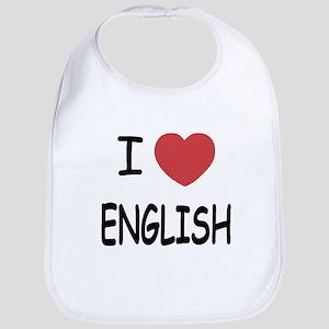 I heart english Bib