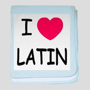 I heart latin baby blanket