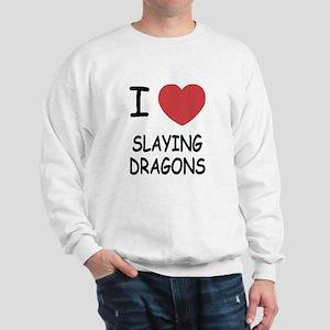I heart slaying dragons Sweatshirt