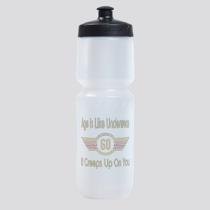 Funny 60th Birthday Sports Bottle