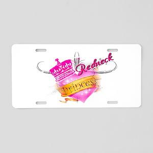 REDNECK PRINCESS (HEART) Aluminum License Plate