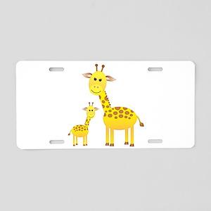 Little & Big Giraffes Aluminum License Plate