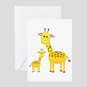 Little & Big Giraffes Greeting Card