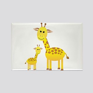 Little & Big Giraffes Rectangle Magnet