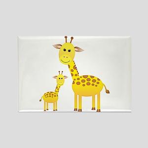 Little & Big Giraffes Rectangle Magnet