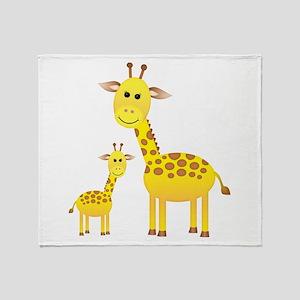Little & Big Giraffes Throw Blanket