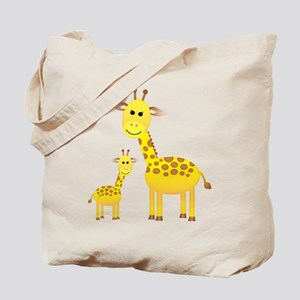 Little & Big Giraffes Tote Bag