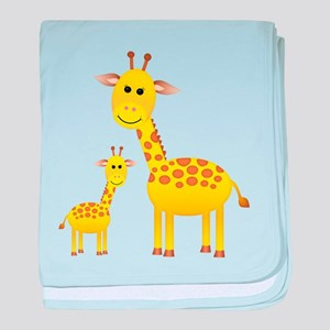 Little & Big Giraffes baby blanket