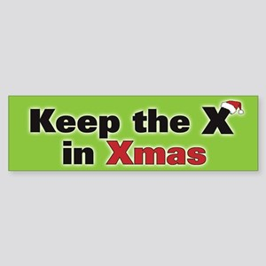 Keep the X in Xmas Sticker (Bumper)