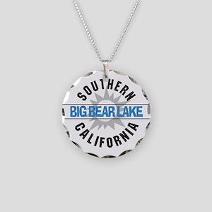Big Bear Lake California Necklace Circle Charm