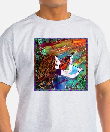 Fiddling Woman T-Shirt