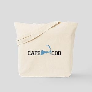 Cape Cod MA - Map Design Tote Bag
