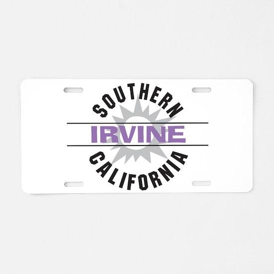 Irvine Caliornia Aluminum License Plate