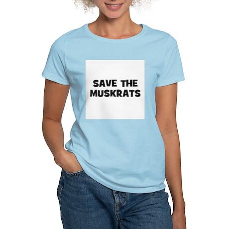 Save The Muskrats Women's Pink T-Shirt