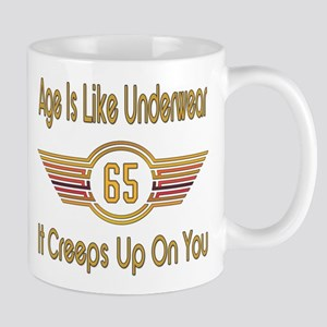 Funny 65th Birthday 11 oz Ceramic Mug