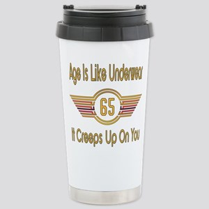 Funny 65th Birthd 16 oz Stainless Steel Travel Mug