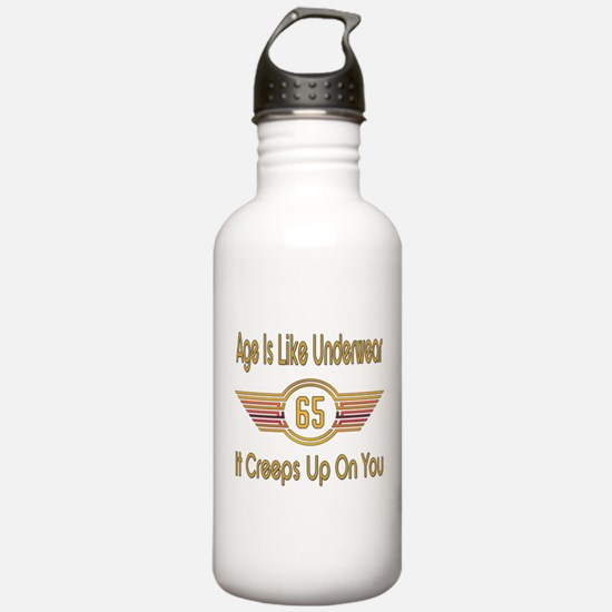 Funny 65th Birthday Water Bottle