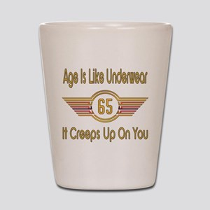 Funny 65th Birthday Shot Glass