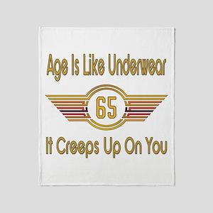 Funny 65th Birthday Throw Blanket
