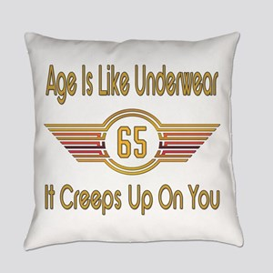 Funny 65th Birthday Everyday Pillow